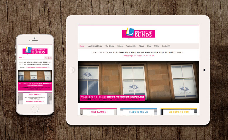 Logo Printed Blinds Responsive Website