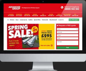 The Advanced Group website designed By Soapbox Digital Media