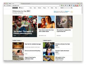 Good Web Design: BBC homepage